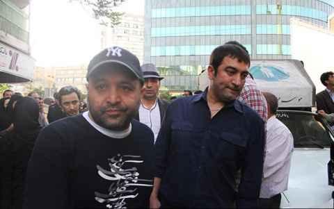 عکسی از مجید صالحی در مراسم ختم مرحوم عسل بدیعی | WwW.BestBaz.IR