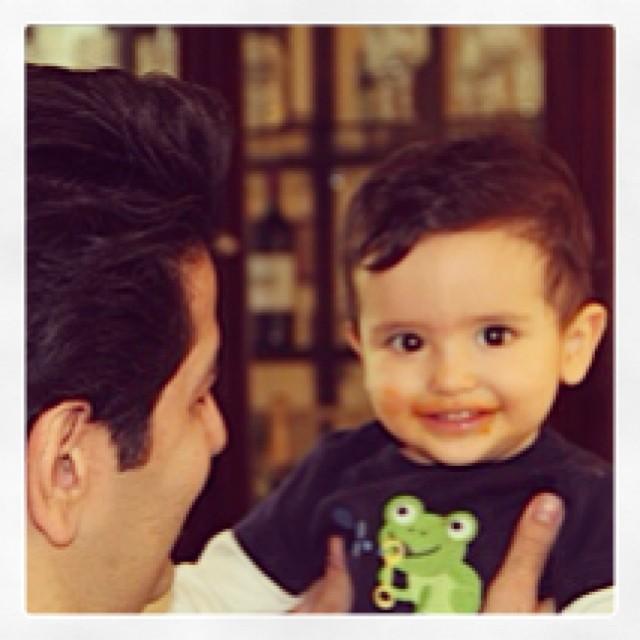 عکسی از حمید طالب زاده و پسرش کیا | WwW.BestBaz.IR