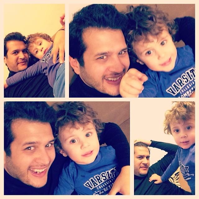 عکسی جالب از سیاوش خیرابی و پسر برادرش برسام | WwW.BestBaz.IR