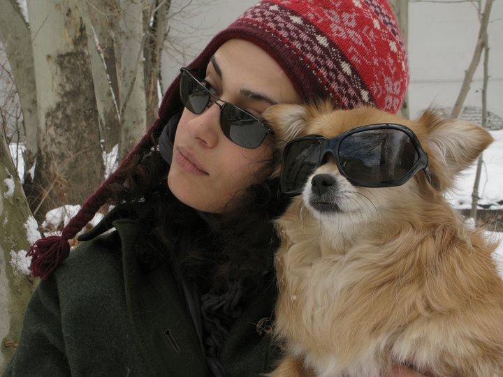 2 عکس متفاوت از لادن مستوفی و سگش | WwW.BestBaz.IR