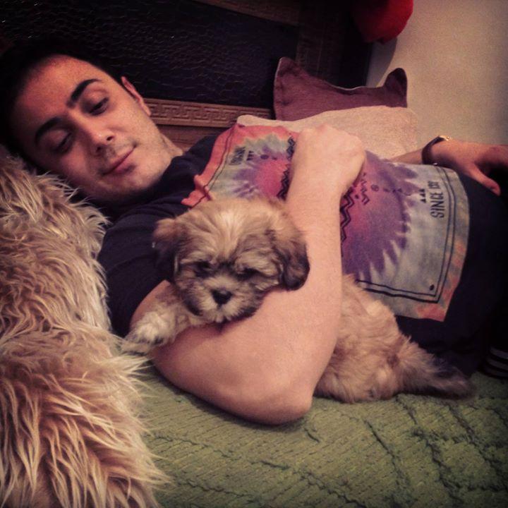 عکسی از ناصر زینعلی و سگش | WwW.BestBaz.IR