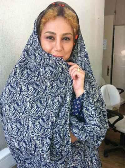 عکسی اختصاصی از بهنوش بختیاری با چادر | WwW.BestBaz.IR