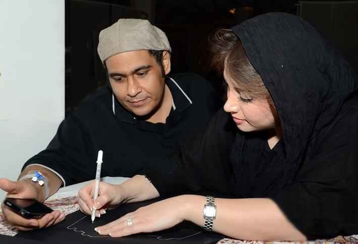 عکسی اختصاصی از رضا داوودنژاد و همسرش غزل بدیعی | WwW.BestBaz.IR