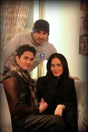 عکسی از الناز شاکردوست کنار همسر و برادرش | WwW.BestBaz.IR