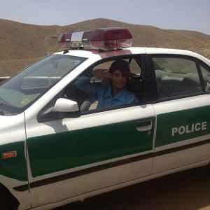 عکسی جالب از الناز شاکردوست در ماشین پلیس | WwW.BestBaz.IR