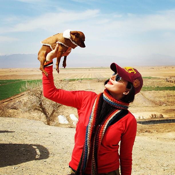 عکسی از الناز شاکردوست و سگش | WwW.BestBaz.IR