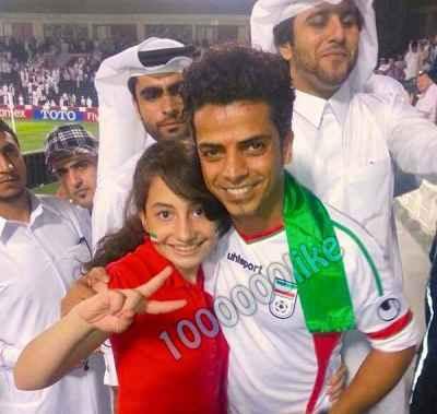 عکسی از افشین در بازی فوتبال ایران با قطر | WwW.BestBaz.IR