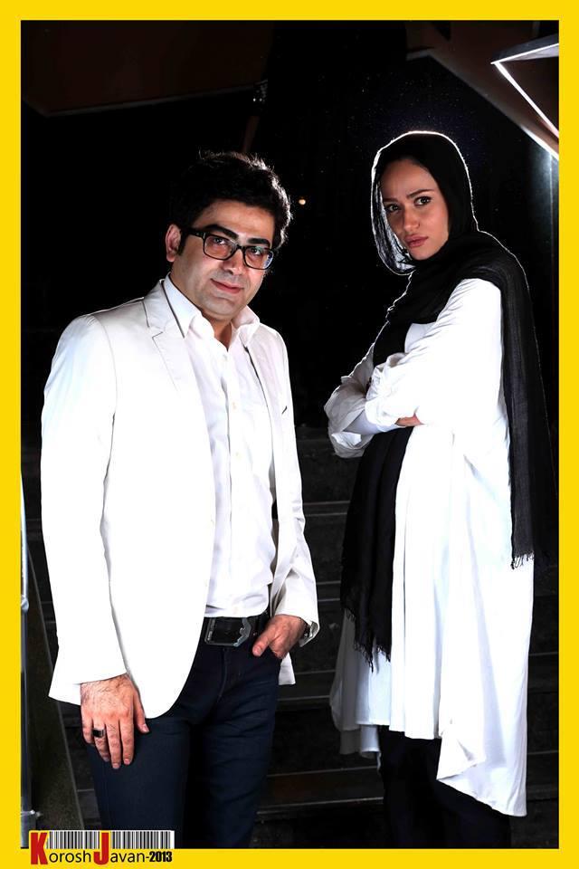 عکس یادگاری پریناز ایزدیار با فرزاد حسنی | WwW.BestBaz.IR