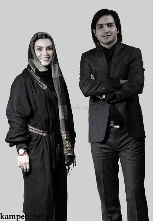 عکس یادگاری ماه چهره خلیلی با محسن یگانه   WwW.BestBaz.IR