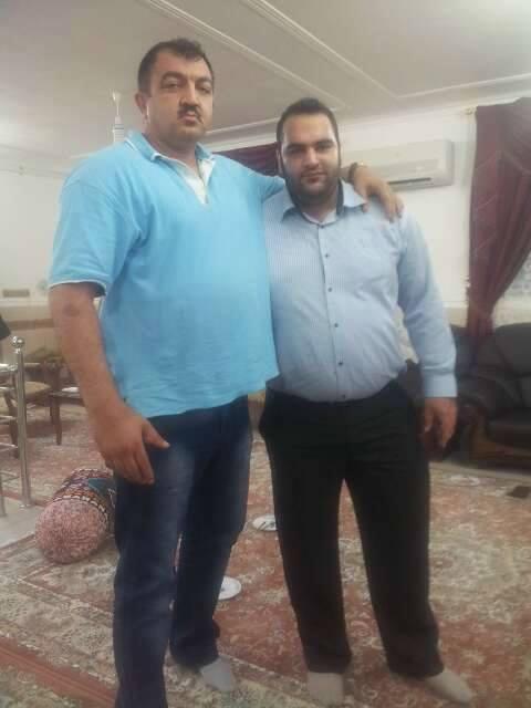 عکسی یادگاری از احمد ایران دوست و بهداد سلیمی | WwW.BestBaz.IR