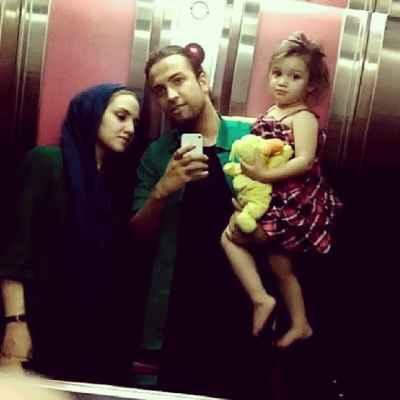 عکسی از بنیامین بهادری و همسرش نسیم حشمتی با دخترشون بارانا | WwW.BestBaz.IR