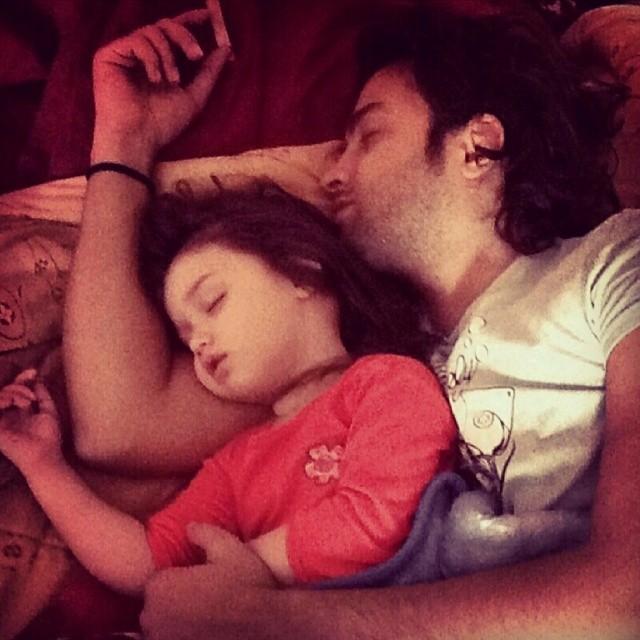 عکسهای بنیامین بهادری و دخترش بارانا