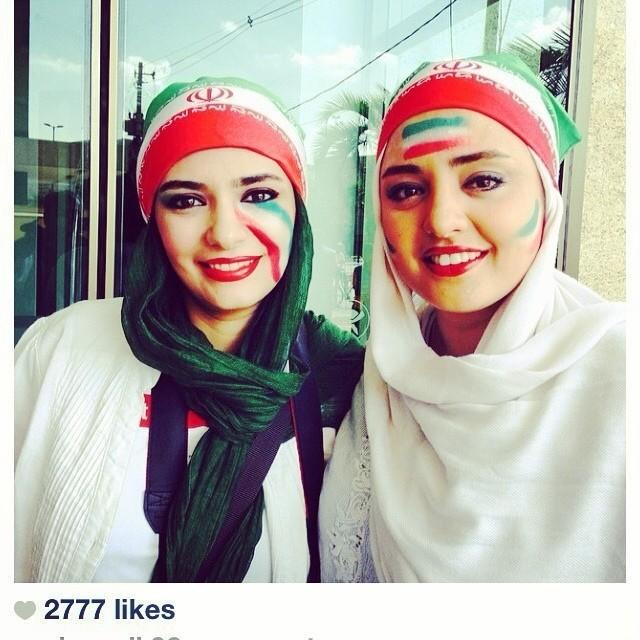 آخرین عکسهای نرگس محمدی و لیندا کیانی در جام جهانی 2014   WwW.BestBaz.IR