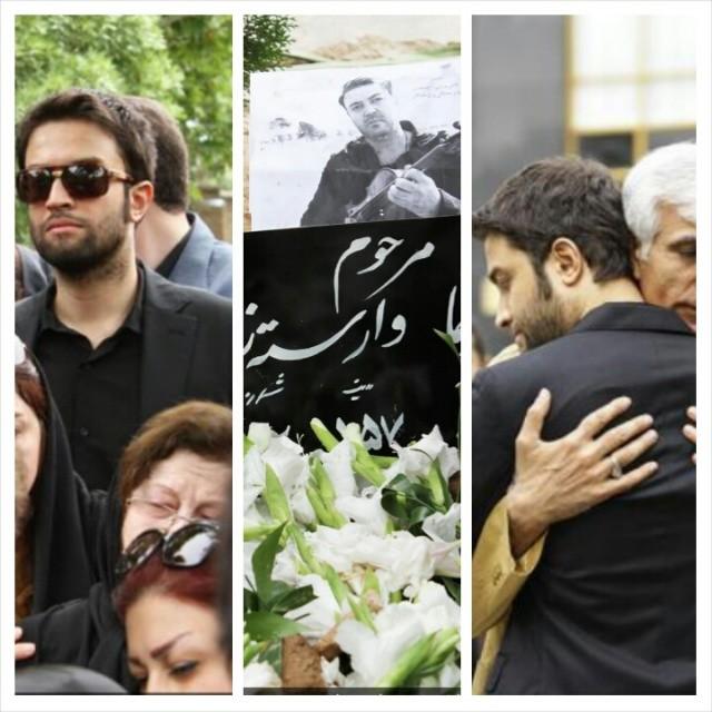 عکسهای بنیامین بهادری در مراسم تشییع نیما وارسته   WwW.BestBaz.IR