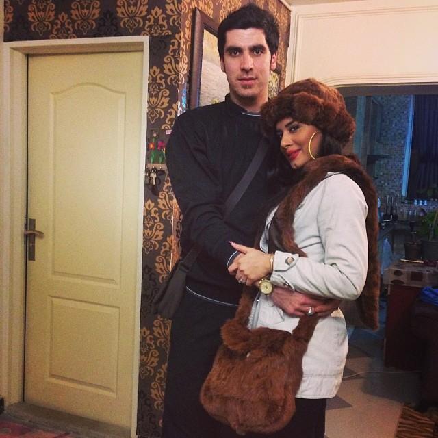 عکسهای شهرام محمودی و همسرش سوگند