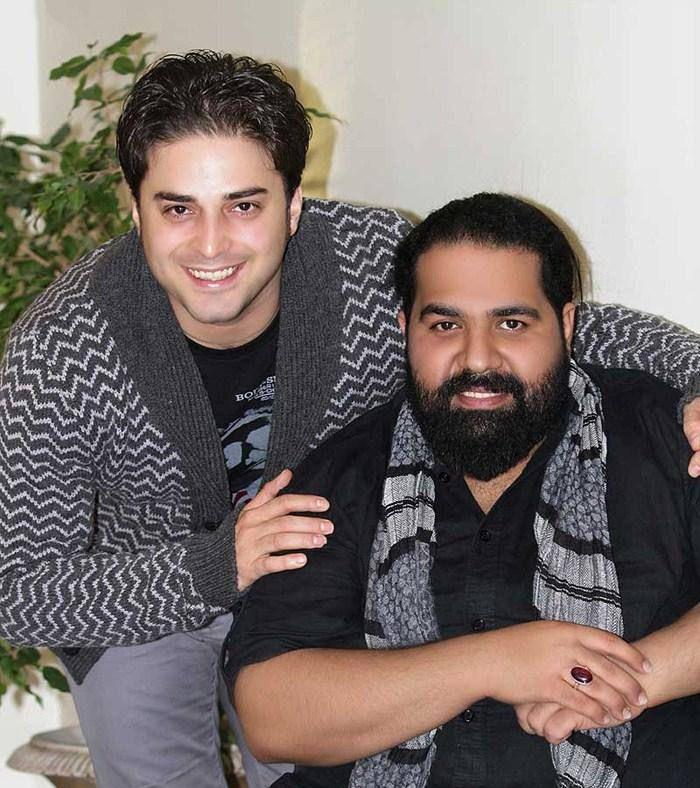 عکس یادگاری از بابک جهانبخش کنار رضا صادقی | WwW.BestBaz.RozBlog.Com