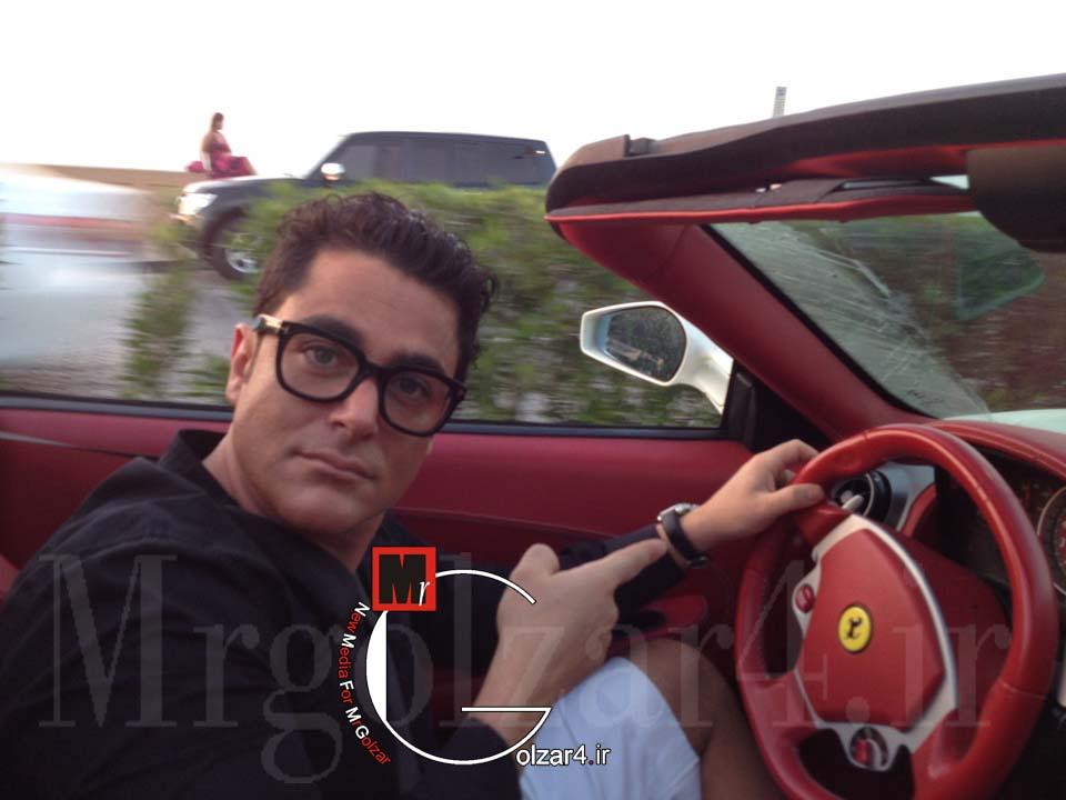 جدیدترین عکس محمدرضا گلزار با ماشین فراریش | WwW.BestBaz.RozBlog.Com
