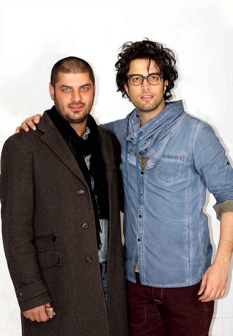 عکس سام درخشانی با سر کچل کنار بنیامین بهادری | WwW.BestBaz.RozBlog.Com