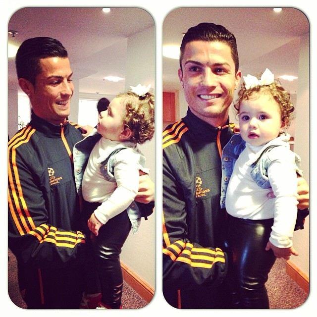 عکسی از کریستیانو رونالدو و دختر جیمز رودریگوئز بازیکن کلمبیا | WwW.BestBaz.IR
